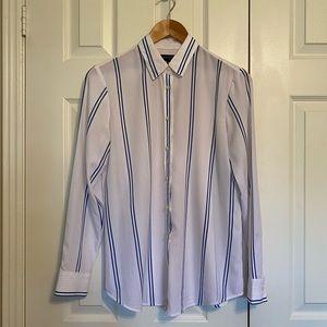 Rayon stripe blouse